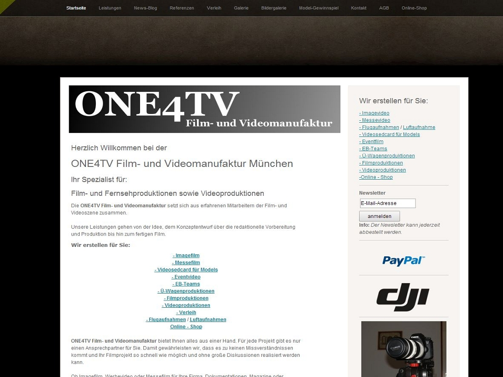 ONE4TV Film- und Videomanufaktur - Shop